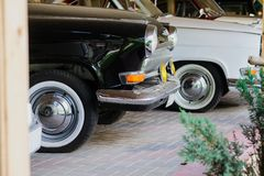 Retro- alte Autos der Sowjetunions Stockbilder