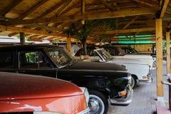 Retro- alte Autos der Sowjetunions Lizenzfreie Stockfotografie