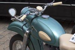 Retro- alte Retro- oder Retro- Autos und Motorräder Lizenzfreies Stockbild