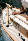 Retro- altes Yachtboot Stockfoto