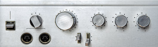Retro aluminium interface Stock Images