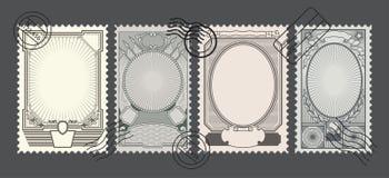 Retro ambiti di provenienza dei francobolli Illustrazione di Stock