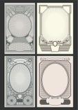 Retro ambiti di provenienza dei manifesti e strutture decorate Royalty Illustrazione gratis