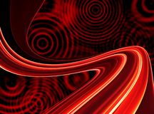 Retro ambiti di provenienza rossi con i cerchi Immagine Stock