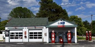 Retro Ambler`s Texaco Station Stock Photos