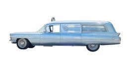 Retro ambulance car. Vintage ambulance car isolated on white Stock Photography