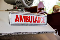 Retro ambulance sign Stock Photography