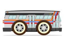 Retro american bus Stock Photo