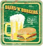 Retro american diner sign Stock Image
