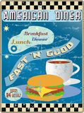 Retro american diner sign Royalty Free Stock Photography