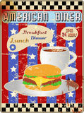 Retro american diner sign Royalty Free Stock Image