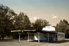 Retro American Drive-in Restaurant royalty free stock image
