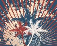 Retro Americana Tropische grunge stock illustratie