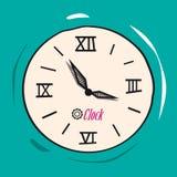 Retro Analog Flat Clock stock illustration