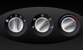 Retro Analog Temperature Controls Royalty Free Stock Photos