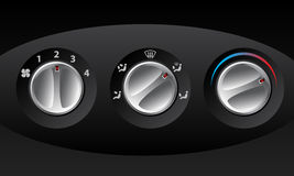Retro analog temperature controls. Retro analog temperature control set of three Royalty Free Stock Photos