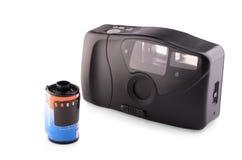 Retro analogue compact camera Stock Photography