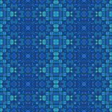 Retro ancient mosaic blue tonality pattern. Retro ancient mosaic blue tonality background Stock Images