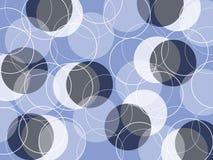 Retro anelli scarni blu Immagine Stock