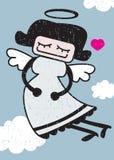 Retro angel. Royalty Free Stock Image