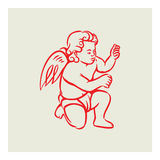 Retro Angel vector Royalty Free Stock Images