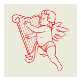 Retro Angel vector Stock Images