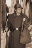 Retro- angeredete Abbildung mit Soldaten Lizenzfreies Stockfoto