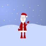 Retro- angeredete Weihnachtskarte mit Santa Claus Lizenzfreie Stockbilder