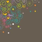 Retro- angeredeter Hintergrund mit Exemplarplatz Stockfotos