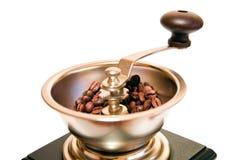 Retro--angeredeter Kaffeeschleifer lizenzfreie stockbilder