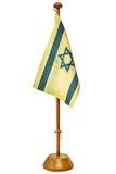 Retro- angeredetes Bild einer kleinen Israel-Flagge lizenzfreies stockbild