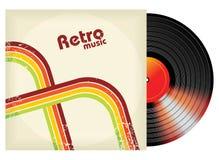 Retro--angeredetes Vinyl Lizenzfreies Stockfoto