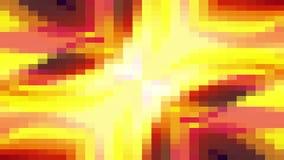 Retro animato dinamico del pixel del blocchetto del ciclo del fondo di animazione di nuovo moto universale senza cuciture commove stock footage