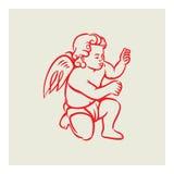 Retro anioła wektor Obrazy Royalty Free