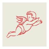 Retro anioła wektor Fotografia Stock
