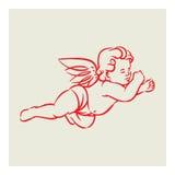 Retro anioła wektor Zdjęcia Royalty Free