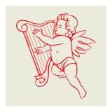Retro anioła wektor Obrazy Stock