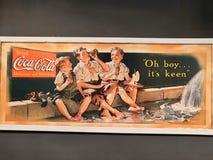 Retro annonserande Coca Cola affisch royaltyfri illustrationer