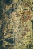 Retro antieke grungy muur, groot voor achtergrond royalty-vrije stock foto's