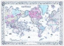 Retro- antiker Weltkarte-Hintergrund stockfotografie