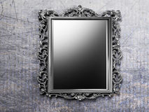 Retro antique mirror on the wall Stock Image