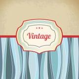 Retro antique template tag. Blue retro antique template tag Stock Photo