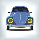Retro- Antrieb der alten Illustration des Autovektors lizenzfreie abbildung