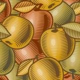 Retro- Apfelhintergrund Lizenzfreies Stockfoto