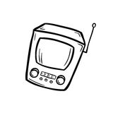 Retro apparat - gammal tv Royaltyfri Foto