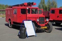 Retro apparecchiatura del fuoco Fotografie Stock Libere da Diritti