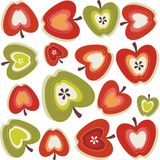 Retro apple pattern Stock Image
