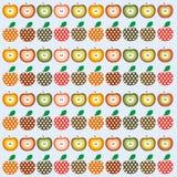 Retro apples Royalty Free Stock Photos