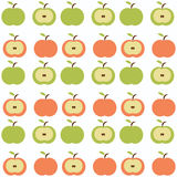 Retro apples background Stock Photos