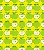 Retro apples seamless pattern Royalty Free Stock Photo